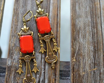Sadie Green's Limited Edition Art Deco, Vintage Glass Statement Earrings | Reign Jewelry Tudors | Camelot | The Crown | The Borgias
