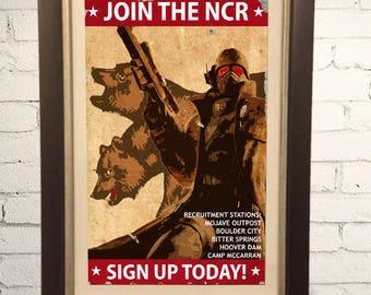New California Republic NCR Propaganda Print Fallout 3 4 New Vegas 11x17 inches