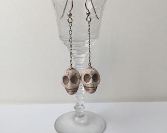 Calavera Drop Earrings