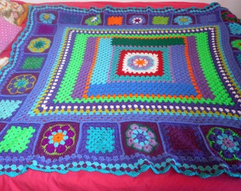 amazing crochet blanket SALE! greatly reduced to 130