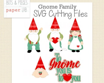 SVG Cutting Files: Gnome Family SVG, Gnome SVG