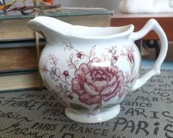 Mid-century (1950s) Johnson Brothers Rose Chintz hand-decorated creamer or milk jug. England.