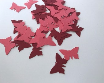 Butterfly die cuts, Red and pink