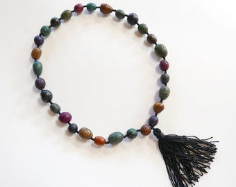 Beaded Necklace Tassel