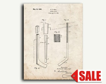 Patent Print - Hockey Stick Patent Wall Art Poster