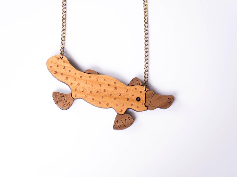 Platypus necklace duck billed platypus pendant animal zoom aloadofball Gallery