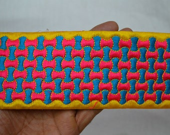 Saree Border Sewing Crafting Trim By 2 Yard Trimming Indian Laces Decorative Sari Border Fabric trims and embellishments Embroidered Trim