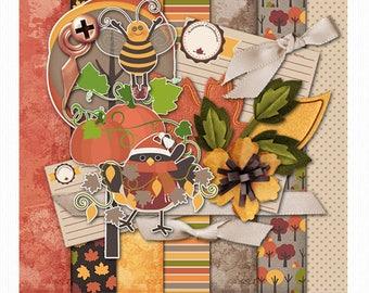Colorful Fall • Busy Season Digital Scrapbooking Kit