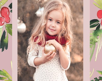 Beautiful Pastel Photo Holiday Card