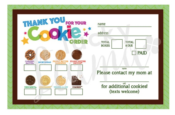It's just a photo of Rare Girl Scout Cookie Order Form Printable 2020