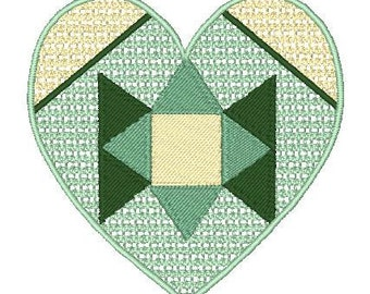 FSL (8) and Applique (8) Hearts  ( 16 Machine Embroidery Designs from ATW for 4x4 hoop)