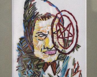 Witch Mythology Embroidered Folklore Framed Home Decor