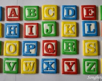 Alphabet Block Cookies (30 cookies)