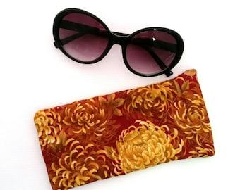 Sunglasses case, sunglasses pouch, floral glasses case, sunglasses slip case, glasses slip case, eyeglasses case, sunglasses accessories