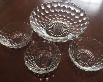 mid-century bubble glass