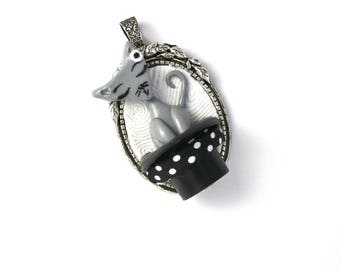 Cat pendant. Cat charm. The piece for jewelry making.