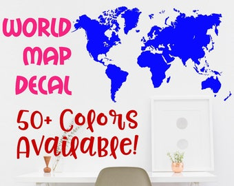 School map etsy world map wall decal office wall decor earth decal kids room decal fun decals school decals gumiabroncs Image collections