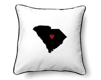 South Carolina Pillow - South Carolina Gift - South Carolina Map - SC State Map