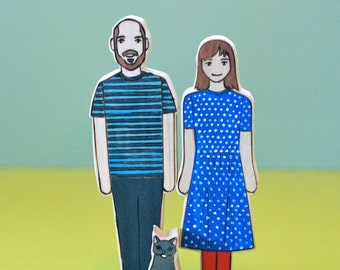Custom Family- Two Adults and One Pet