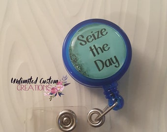 Seize The Day Badge Holder