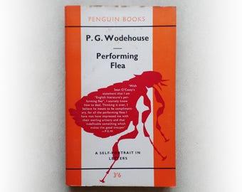 PG Wodehouse - Performing Flea - Penguin vintage paperback book - 1961