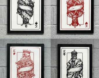 "4 Kings Art Prints / Posters - 13x19"""