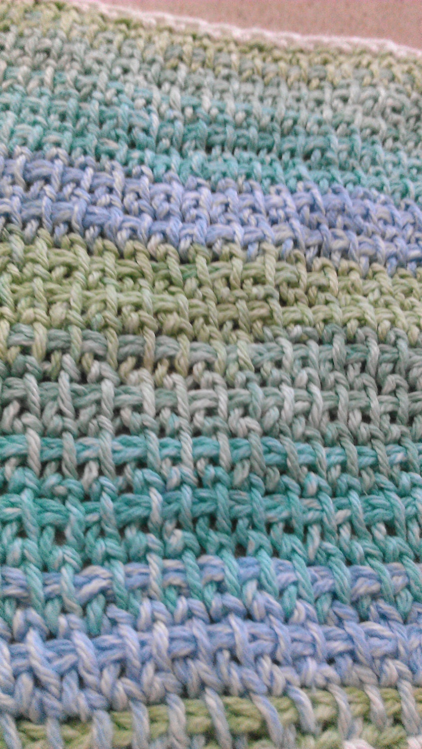 PDF Download for Easy Knit/Tunisian Crochet Pattern for Spa Cloths ...