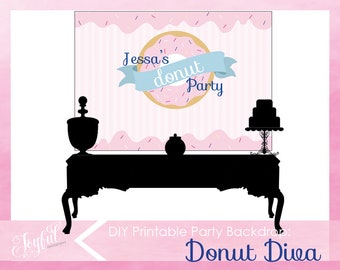 Donut Birthday Party Backdrop