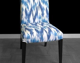 Blue Ikat IKEA HENRIKSDAL Custom Dining Chair Cover