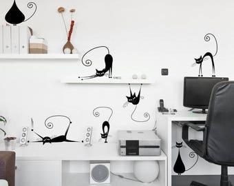 Wall sticker - Cats (3395n)