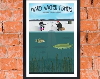 Art Deco Ice Fishing Art Print