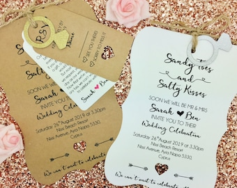 Destination Wedding Invitation, Travel wedding, Wedding Abroad, Rustic Wedding Invitation ,Salty Toes Salty Kisses