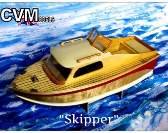 Vintage Model Boat Kit Skipper