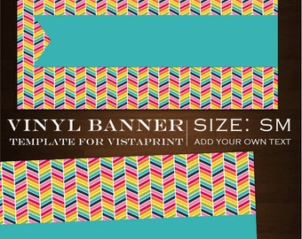 Chevron Vinyl Banner - Customizable Rainbow Vinyl Banner Design - rbc Geometric Craft Show Sign Birthday Banner ZigZag Vinyl Sign Template