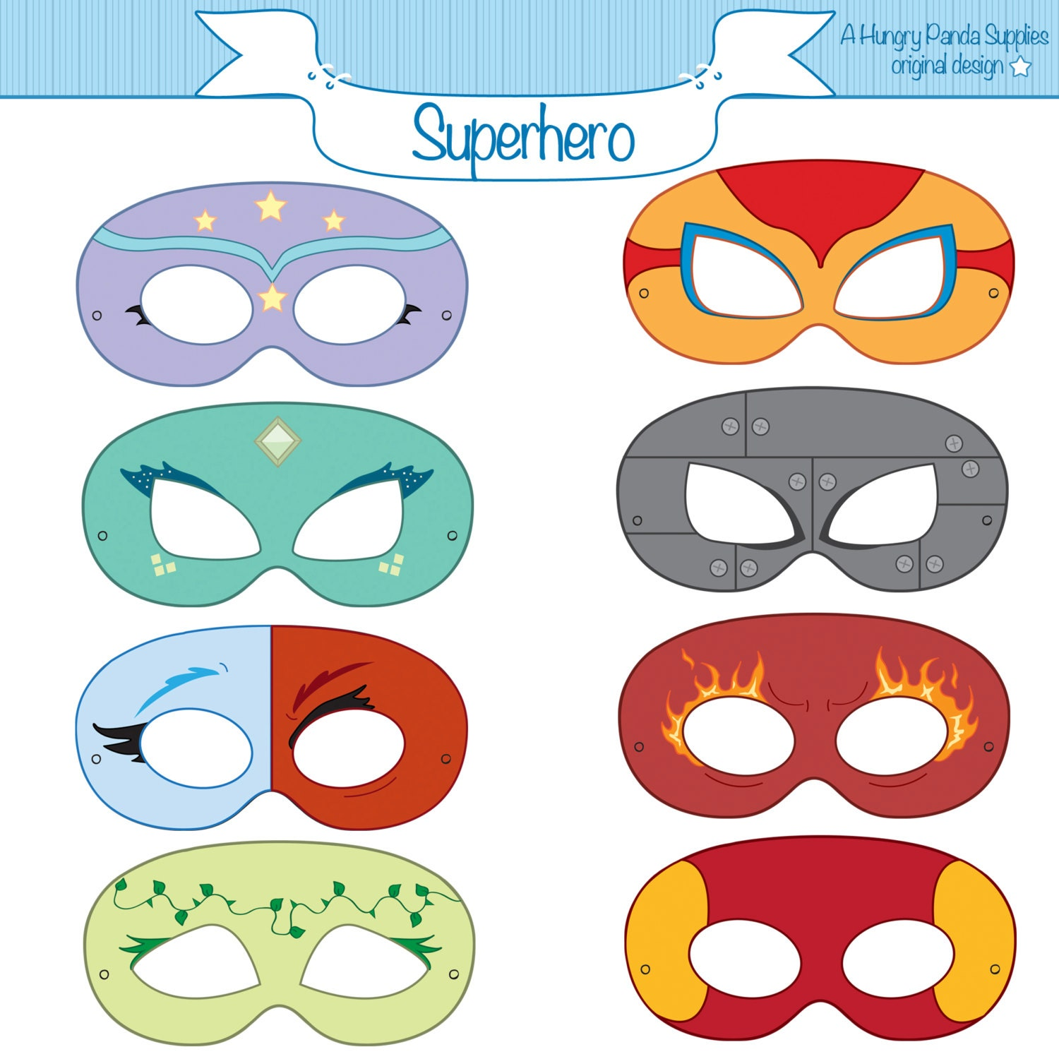 This is a graphic of Geeky Super Hero Printables