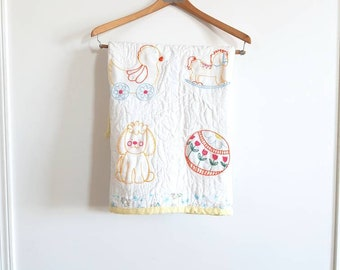 Vintage Embroidery Baby Blanket