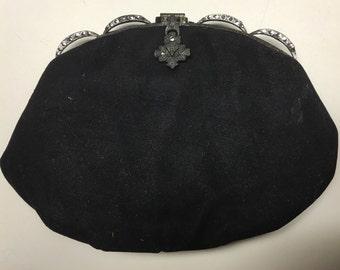 Vintage Black Clutch