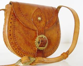 Vintage  Leather Small Handbag.