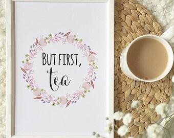 But first, tea print