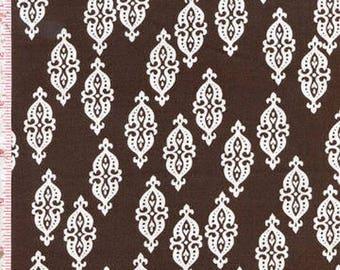 STELLA 117 DEARSTELLADESIGN Brown patchwork fabric