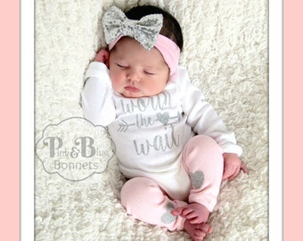 baby girl coming Home Outfit, newborn girl coming home outfit, coming home outfit girl, baby girl outfit, SPARKLY & NEW TM