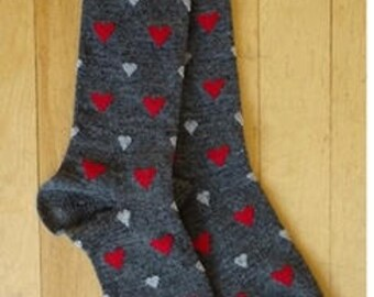 Heart Socks: Alpaca blend