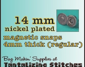 14mm regular magnetic snaps (4mm thick) - available in nickel finish - Choose from 267, 600, and 1500 sets