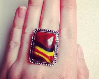 Colourful Adjustable Ring
