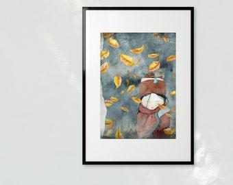 Autumn Princess - A3 Art print
