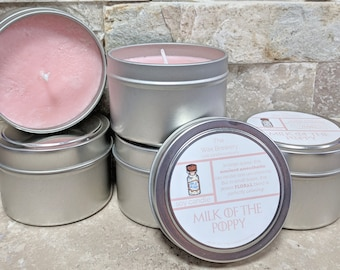 Milk of the Poppy Scented Soy Candle- 4oz Game of Thrones Candle