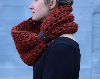 Pumpkin Spice - CHUNKY WOOL Large Cowl Scarf