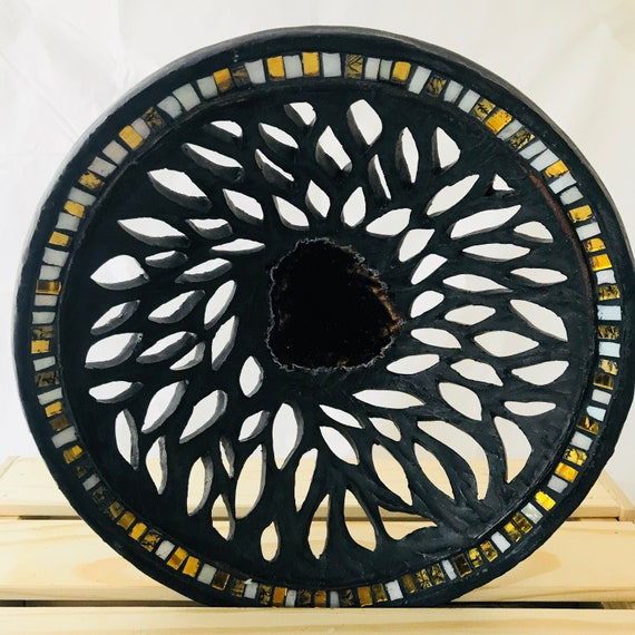 Carved Ceramic Mosaic Bowl