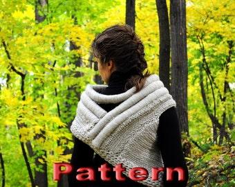 Кnit pattern Katniss inspired cowl (PDF - Instant Download)