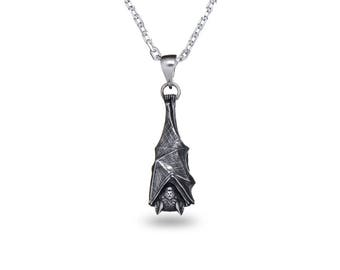 bat sterling listing il pendant necklace silver